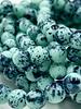 6mm Round Druk Tea Green Speckled Black