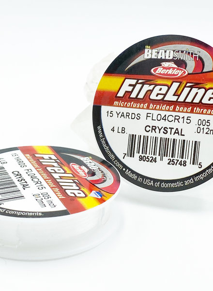 4 LB FIRELINE CRYSTAL .005 IN/.12MM DIA 15 YRD