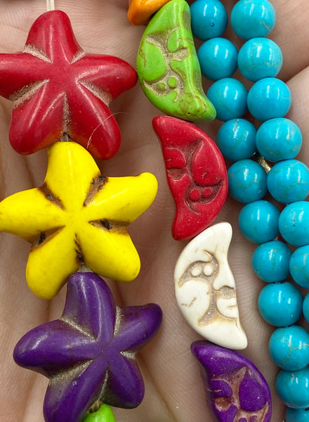 Closeout: Rainbow Magnesite Stars and Moon