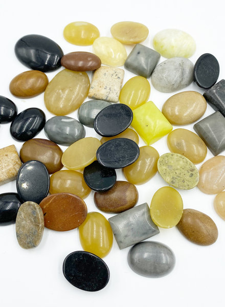 "Closeout: 3/4"" Mixed Gemstone Cabochons"