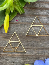 Thin Geometric Triangle: Gold- 10pc.