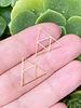 Thin Geometric Triangle: Gold- 10pc.