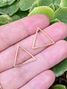 18x20mm Triangle Frame: Gold- 1 Pair