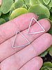18x20mm Triangle Frame: Silver- 1 Pair