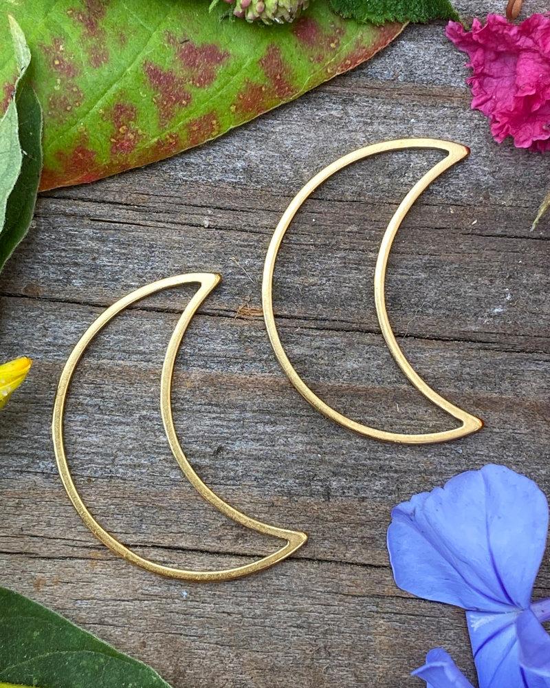 Small Moon: Gold- 1 Pair