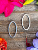 Small Oval Wire Frame- Nickle Silver-10pc.