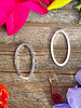 Small Oval Wire Frame- Silver-10pc.