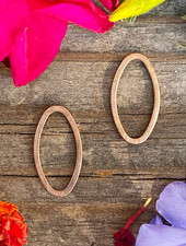 Small Oval Wire Frame- Antique Copper-10pc.