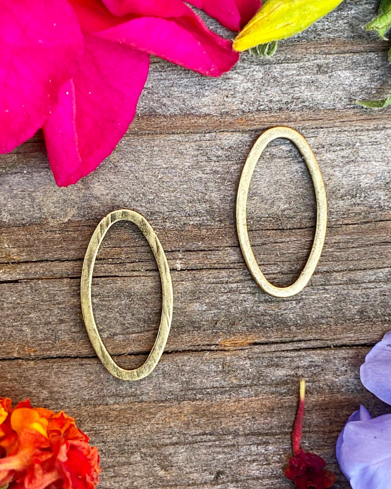 Small Oval Wire Frame- Antique Brass-10pc.