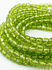 Fire-Polish 4mm : Olivine - Silver-Lined