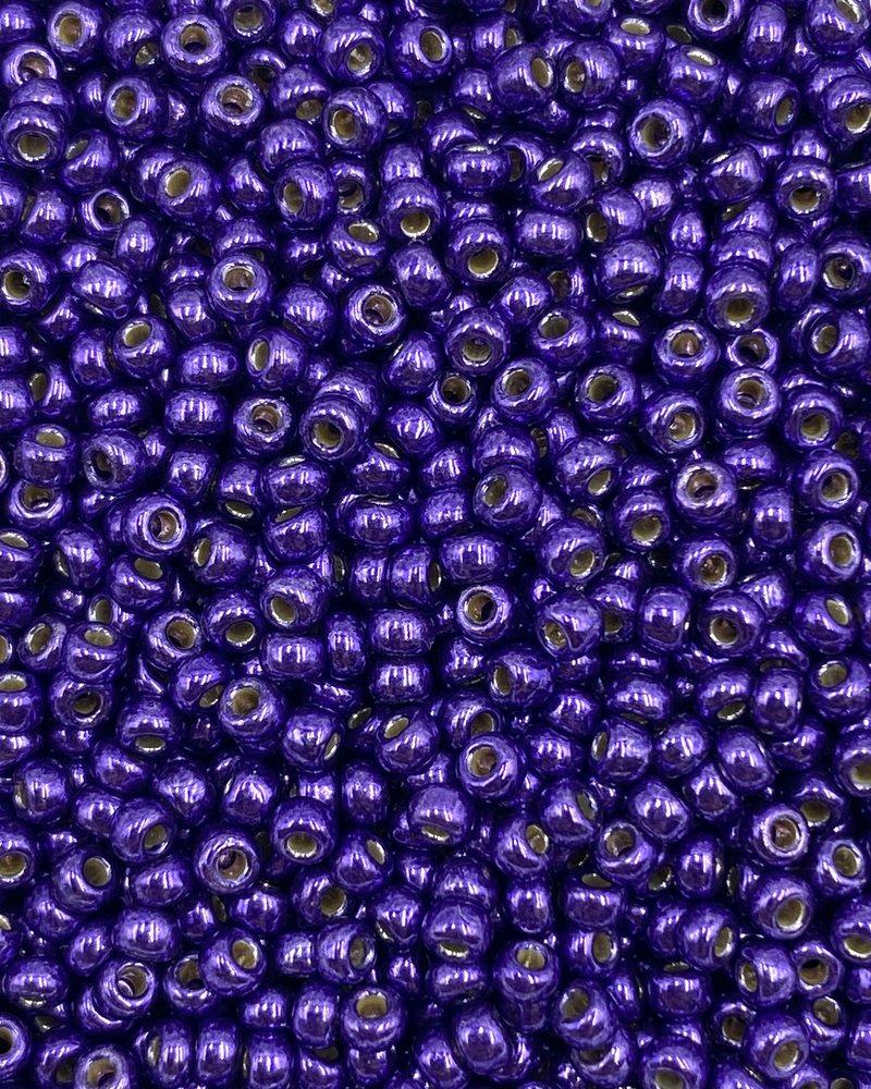 Size 11/0 Miyuki Round: Duracoat Galv Lilac Night