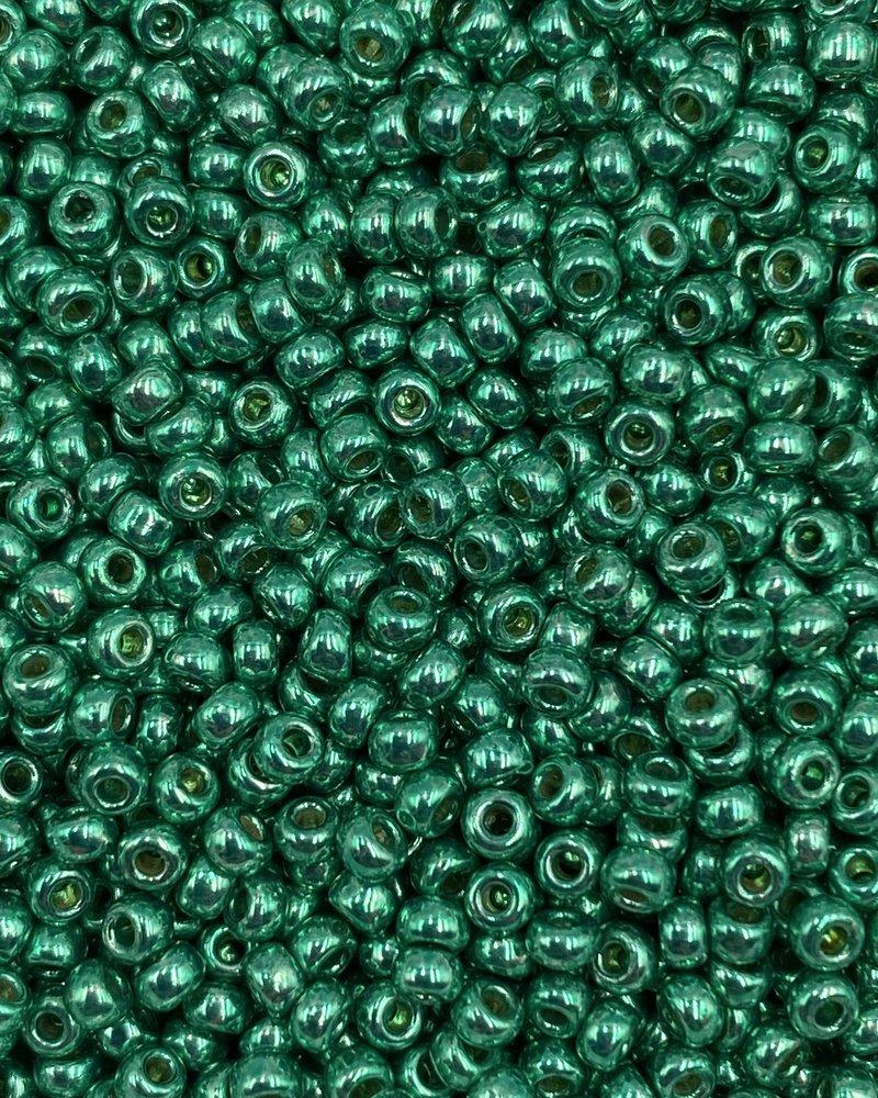 Size 11/0 Miyuki Round: Duracoat Galv Dark Mint Green