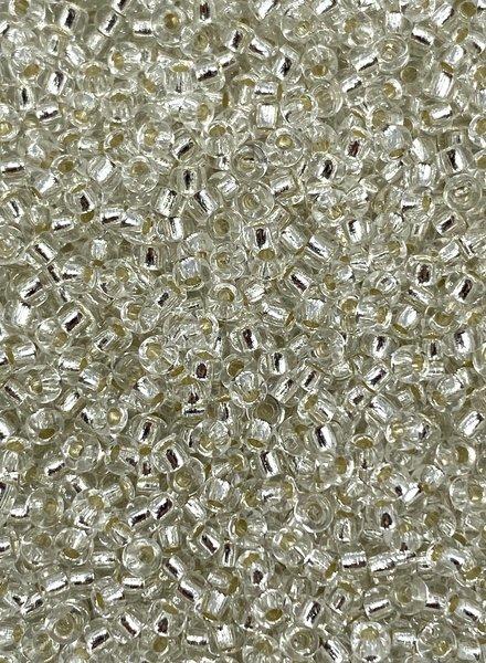 Size 11/0 Miyuki Round: Silver Lined Crystal