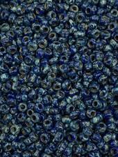 Size 11/0 Miyuki Round: Opaque Cobalt Picasso