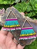Beaded Triangle Earrings  Gold: Summer Colors