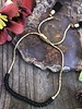 Sliding Chain Bracelet KITS  Gold: Black Beads