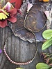 Sliding Chain Bracelet KITS  Antique Brass: Mauve Beads
