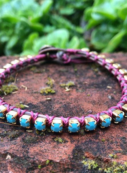 Cup Chain Bracelet KIT Turquoise/Purple