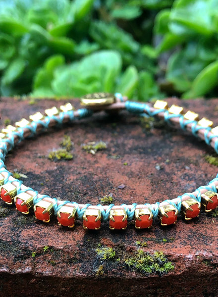 Cup Chain Bracelet KIT Coral/Teal