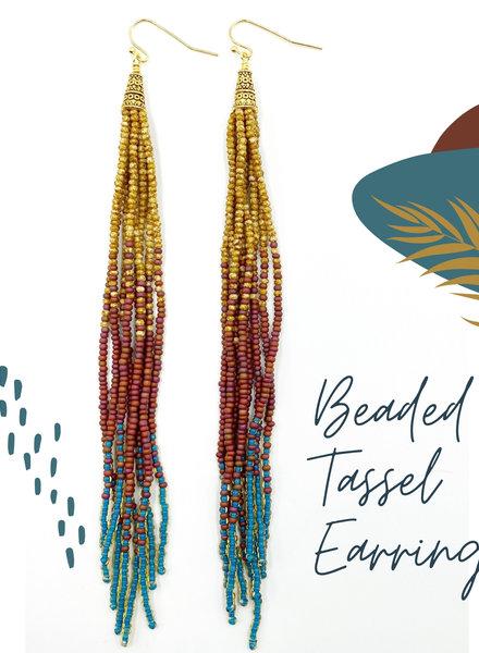 Beaded Tassel Earrings KIT: Rustic Sunset