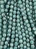 Firepolish 6mm : Green Turquoise Mottle