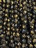 Firepolish 6mm : Gold Splatter