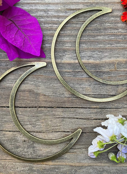 Large Moon: Antique Brass- 1 Pair