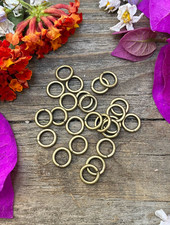Antique Brass:  6mm Jumpring 24pc. SOLDERED CLOSED