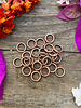 Antique Copper 6mm Jumpring 24pc. SOLDERED CLOSED