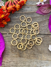 Gold: 6mm Jumpring 24pc. SOLDERED CLOSED