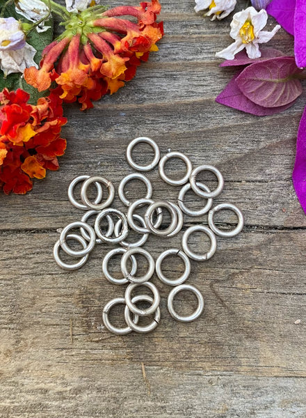 Antique Silver: 6mm Jumpring 24pc. SOLDERED CLOSED