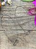 Gunmetal Kidney Wire 18x47- 1Pair