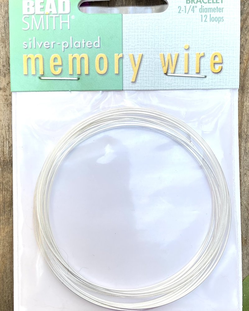 MEMORY WIRE SILVR PLT 2.25 BRACELET WIRE 12 LOOPS