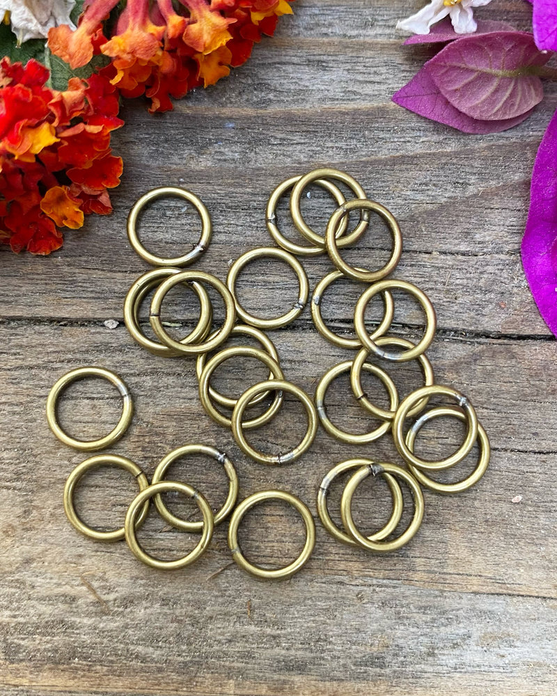 Antique Brass:  8mm Jumpring 24pc. SOLDERED CLOSED