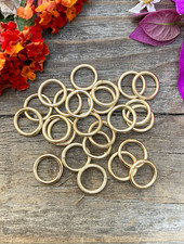Satin Gold: 8mm Jumpring 24pc. SOLDERED CLOSED
