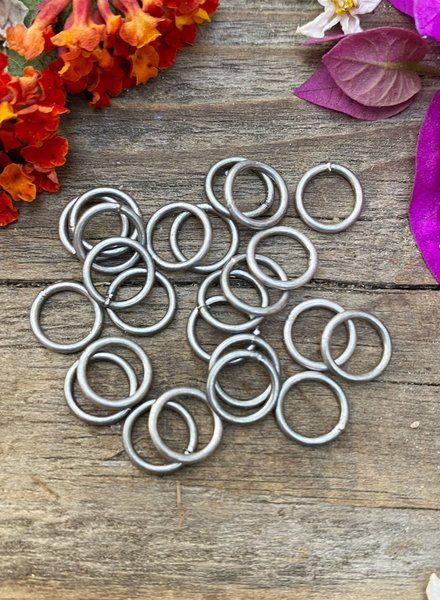 Antique Silver: 8mm Jumpring 24pc. SOLDERED CLOSED
