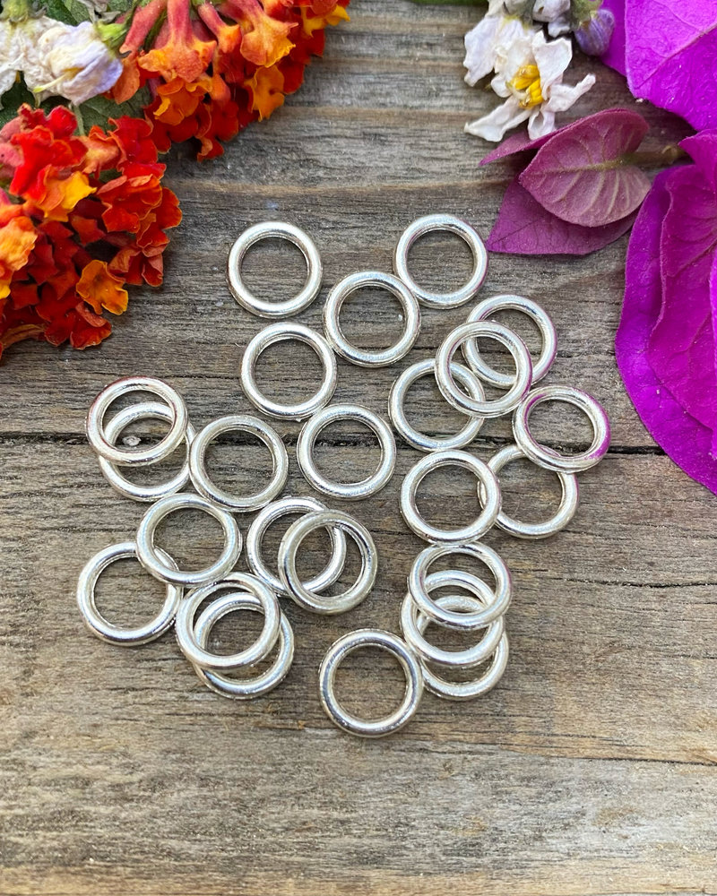 Silver: 8mm Jumpring 24pc. SOLDERED CLOSED