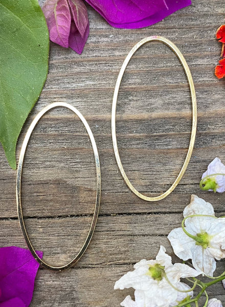 20x40mm Oval Wire Frame-GOLD 6pc.