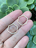 17mm Hexagon: Silver- 1 Pair