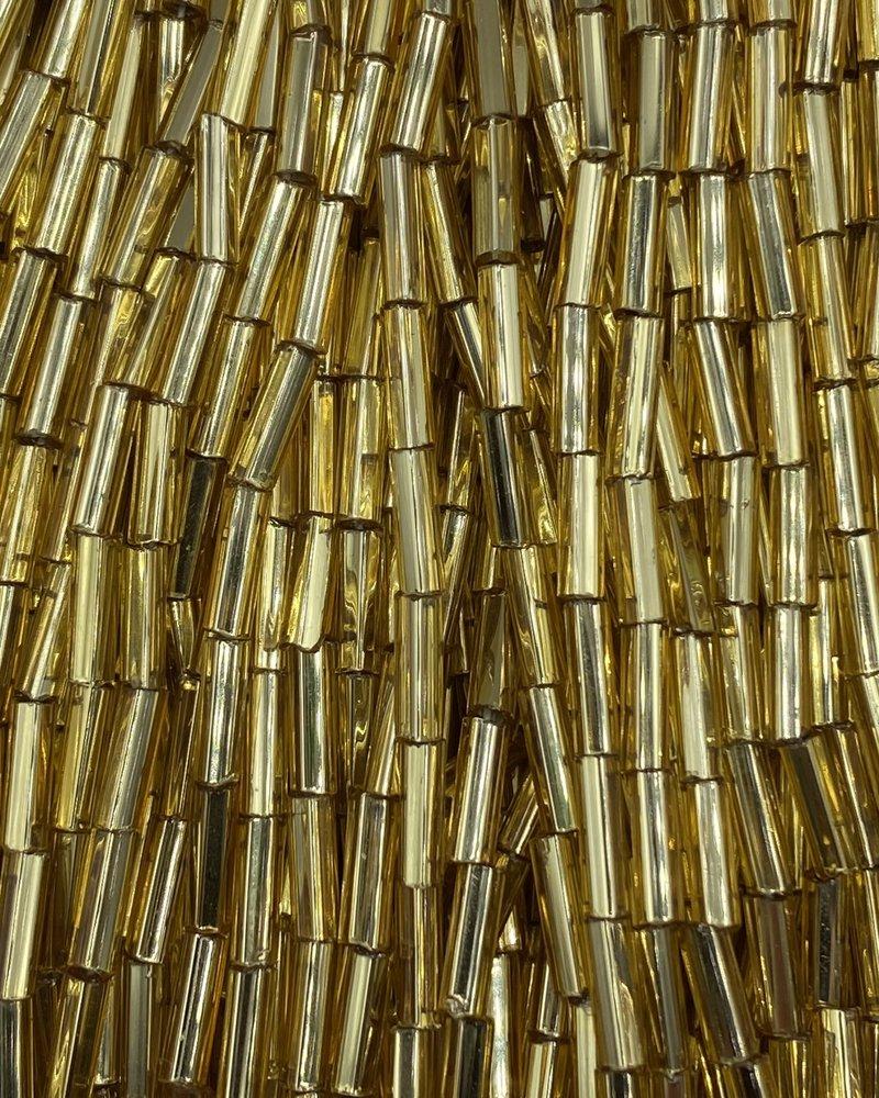SIZE 7mm Bugle #6 LIght Topaz Silver Lined