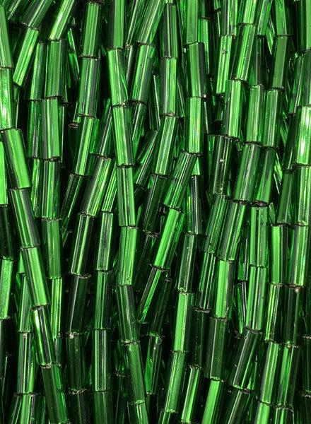 SIZE 7mm Bugle #21 Dark Kelly Green Silver Lined