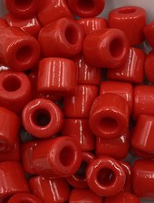 7mm Crow Bead #106 Chinese Red- 50pc.