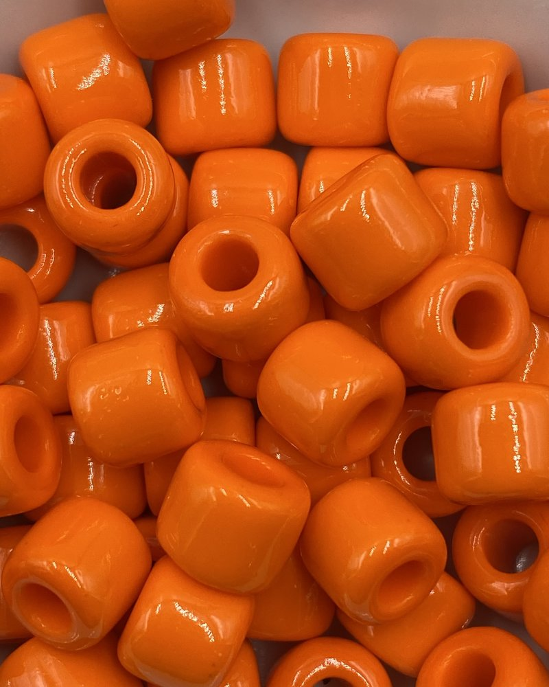 7mm Crow Bead #111 Dark Orange- 50pc.