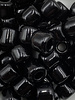 7mm Crow Bead #101 Black- 50pc.