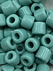 7mm Crow Bead #117 Green Turquoise- 50pc.