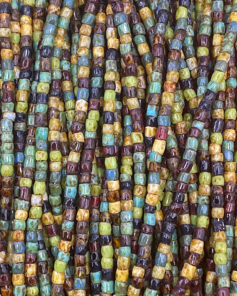 Size 9/0 Three Cut Seed Beads- #976 Mix  Travertine