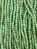 Size 9/0 Three Cut Seed Beads- #968 Green Turquoise Travertine