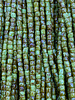 Size 9/0 Three Cut Seed Beads- #984 Pastel Green Travertine