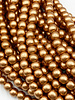 6mm Wood Beads: Metallic Copper