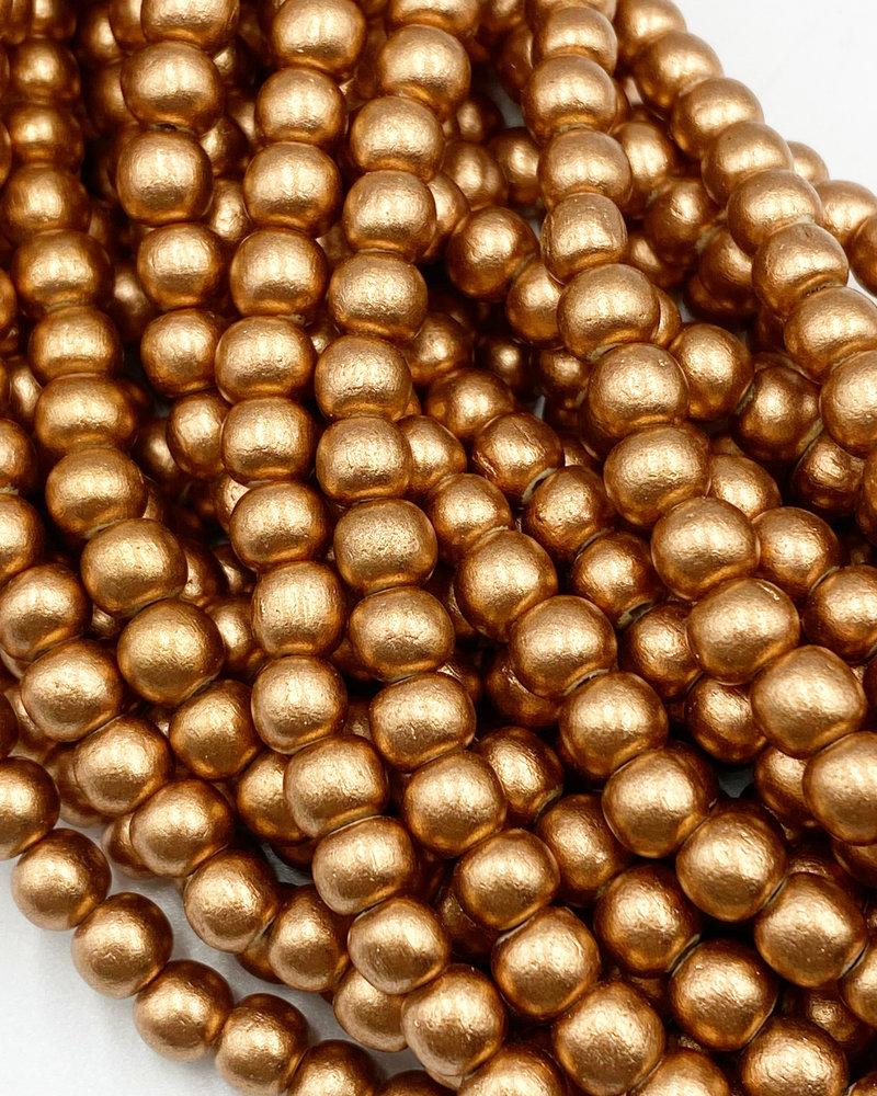 6mm Wood Beads: Metallic Copper